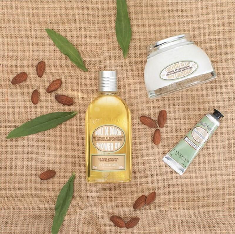 Muchas marcas tienen aceite, jabon y crema de almendras. Tendrás una piel envidiable
