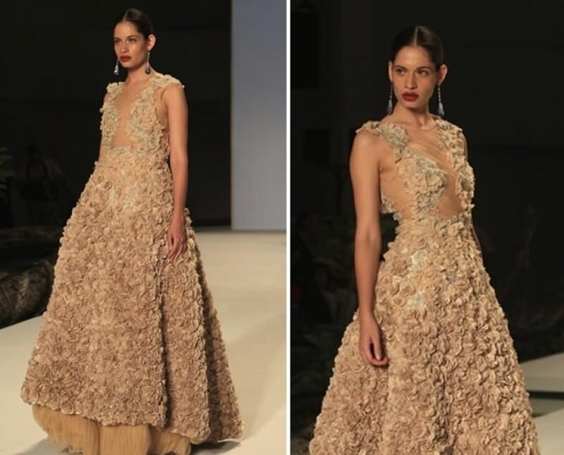 El vestido de la concursante de ELLE México Diseña fue el más votado por los usuarios de Quién.com, lo que la convierte en la ganadora de un viaje al New York Fashion Week.