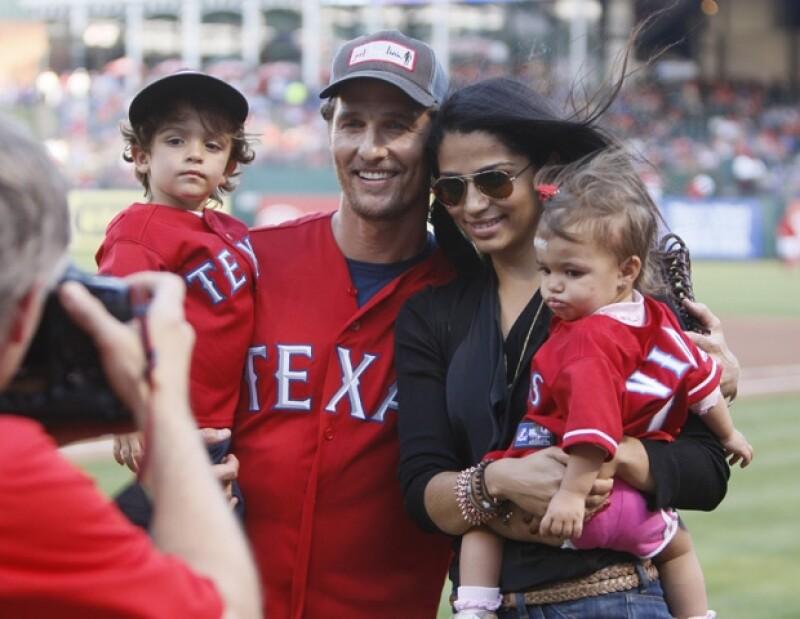 Matthew McConaughey es un padre y esposo muy protector.
