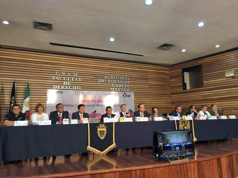 Los foros son organizados por el Instituto Nacional Electoral (INE) junto con el Instituto Electoral del Distrito Federal (IEDF)