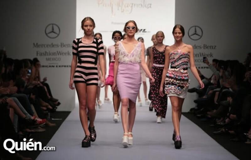 La tercera jornada de la Semana de la Moda se caracterizó por la variedad de sus propuestas femeninas y masculinas: desde el sofisticado Macario Jiménez hasta la dulzura de Pink Magnolia.