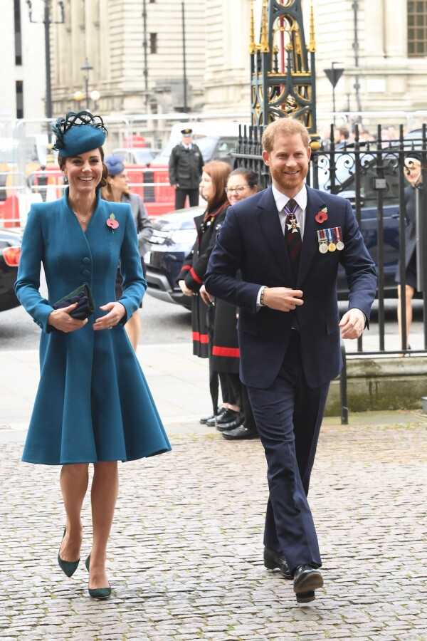 Duchess Of Cambridge and Duke of Sussex Attend ANZAC Day Service