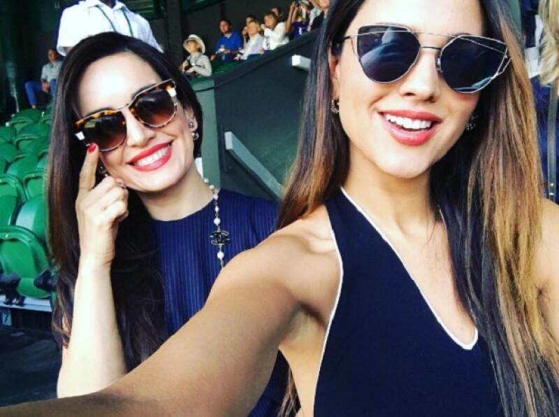 Las guapas actrices viajaron hasta Gran Bretaña para presenciar uno de los eventos deportivos más importantes del mundo del tenis.