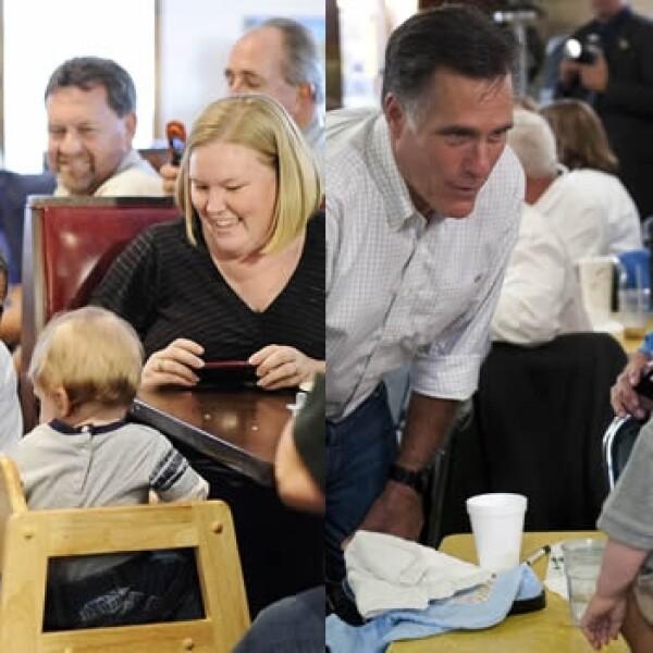 Obama Romney bebes