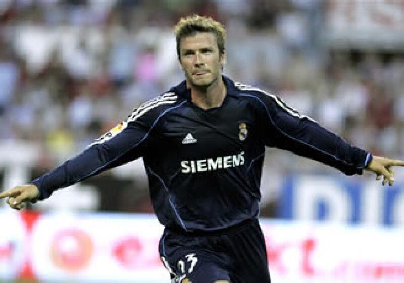 David Beckham también militó en el Real Madrid de España. (Foto: AP)