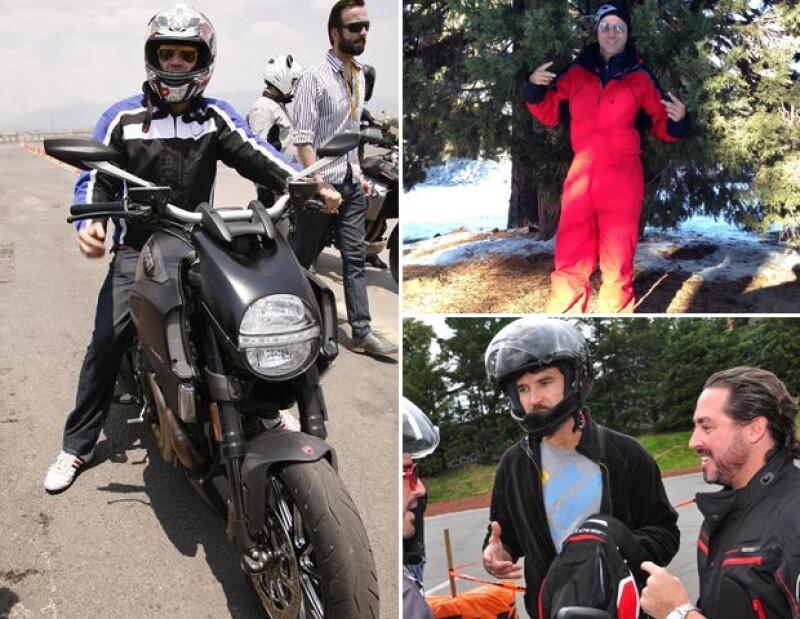 Leonardo García gusta de realizar viajes en motocicleta acompañado de sus amigos.