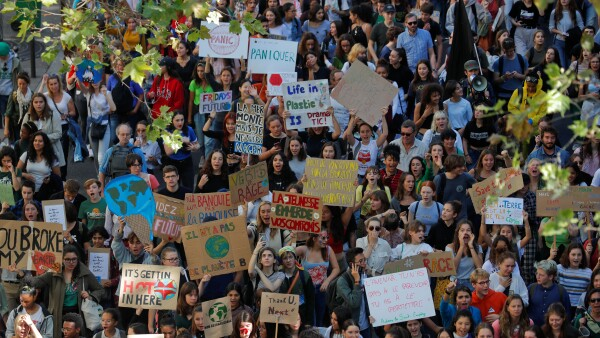 Fridays for Future climate change action protest in Paris