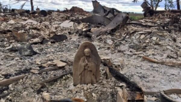 Estatua intacta de la virgen María