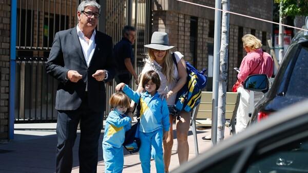 Shakira, Milán y Sasha.