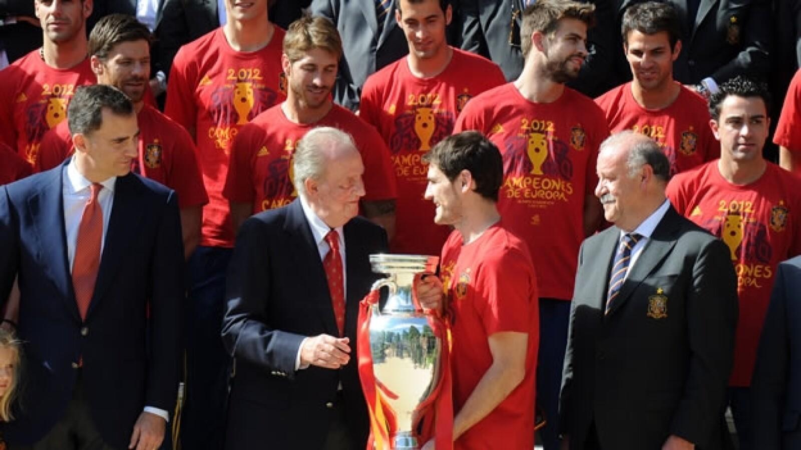 La selección española visita al rey Juan Carlos