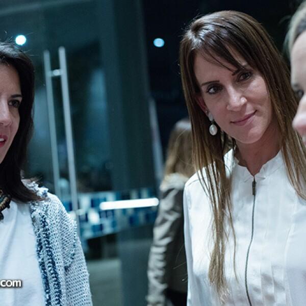 Stephanie Beckmann, Verónica Salame y Katty Beltrán
