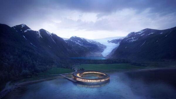 El famoso glaciar Svartisen