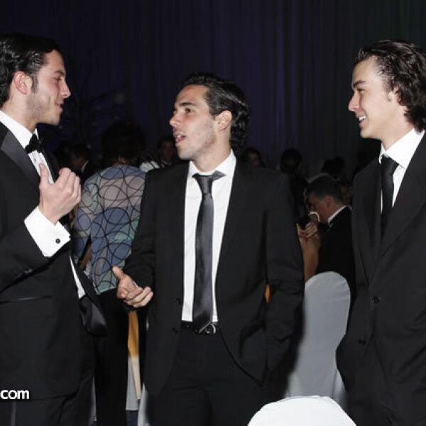 Diego González,Santiago Poliura y Jordy Hernan