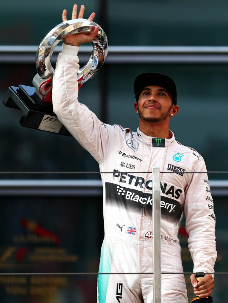 El piloto ganó el primer lugar en el Grand Prix de China el fin de semana pasado.