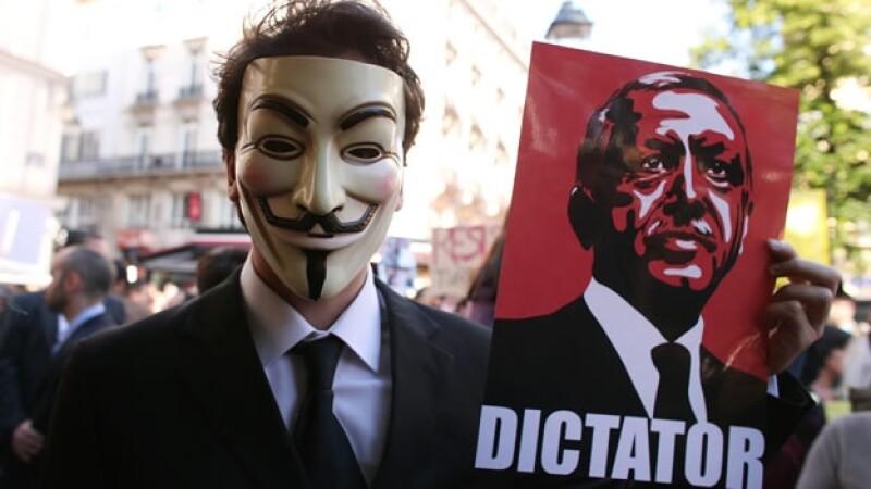 Mercancia en protestas de Turquia