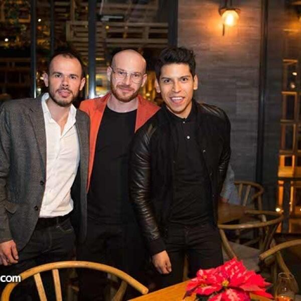 Humberto Rosete,Joel Kowalowzky y Luis Trujillo