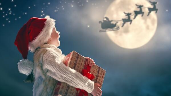 Santa Claus y niño