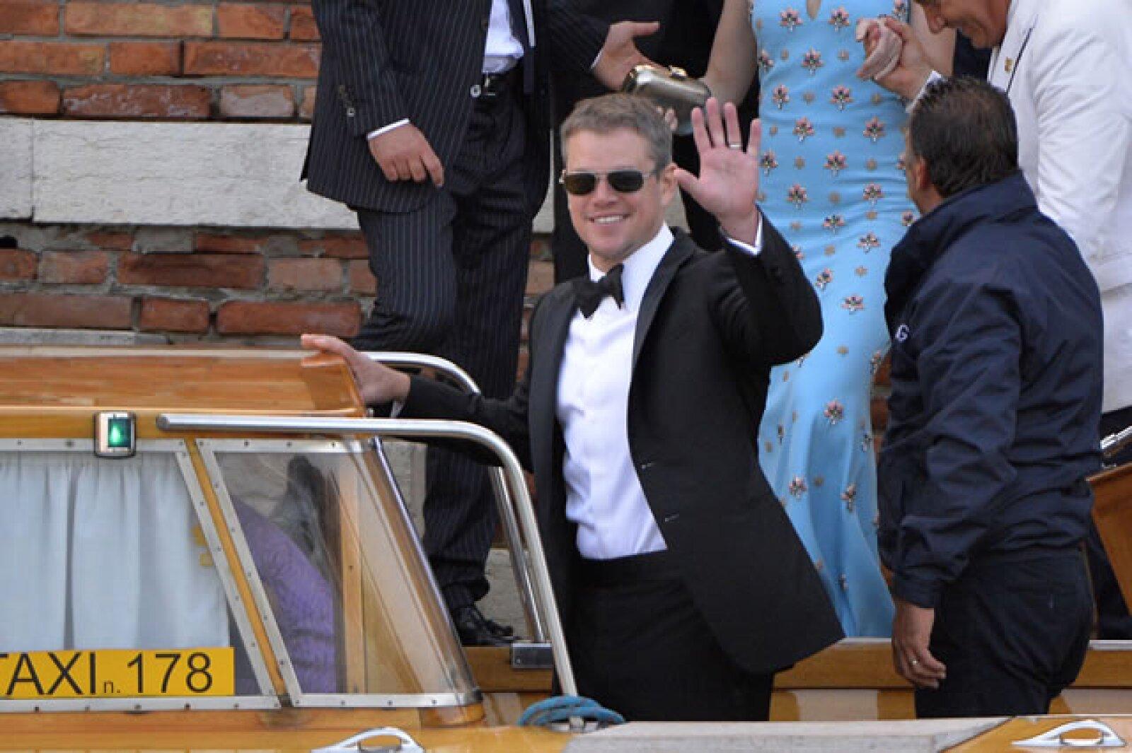 Matt Damon no podía faltar a la celebración.