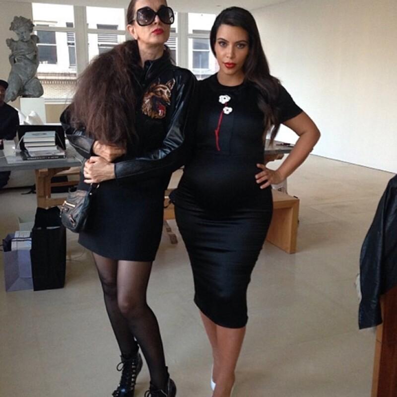 Kim eligió un vestido Prada para reunirse con Anna Wintour.