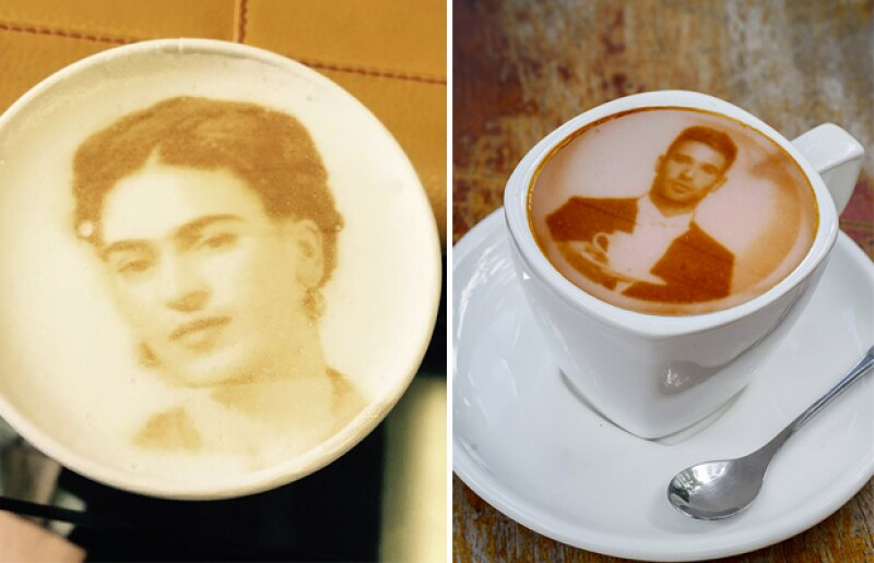 ¿Frida Kahlo o cualquier otro artista en tu café? ¡Por qué no!