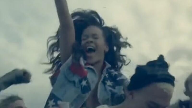 Rihanna se divirtió mucho durante la grabación del video.