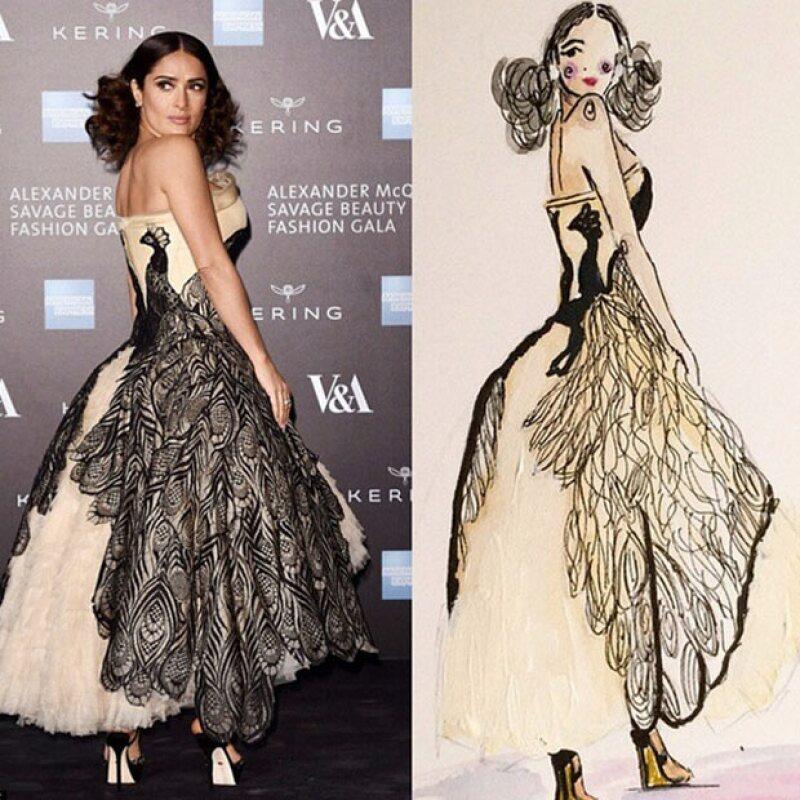 La actriz mexicana compartió diversas imágenes artísticas que sus fans le han hecho.