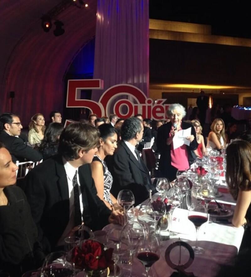 La escritora Elena Poniatowska también fue galardonada y ofreció unas palabras.