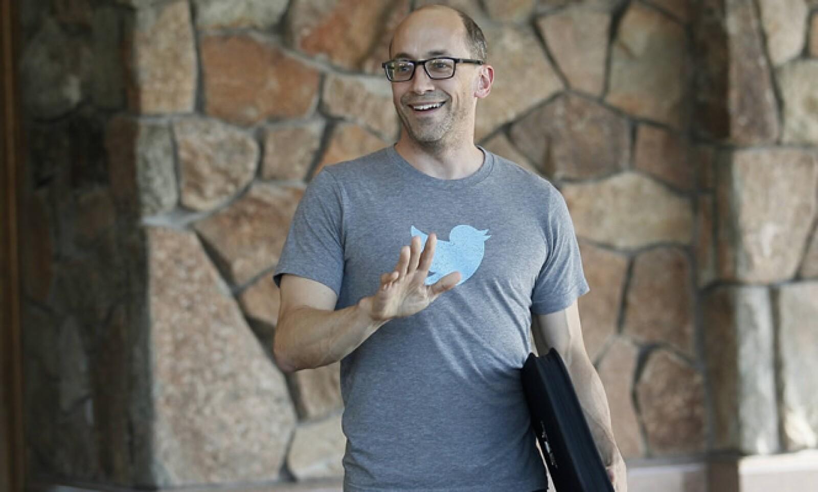 La playera delata su compañía. Dick Costolo, actual CEO de la red social Twitter.