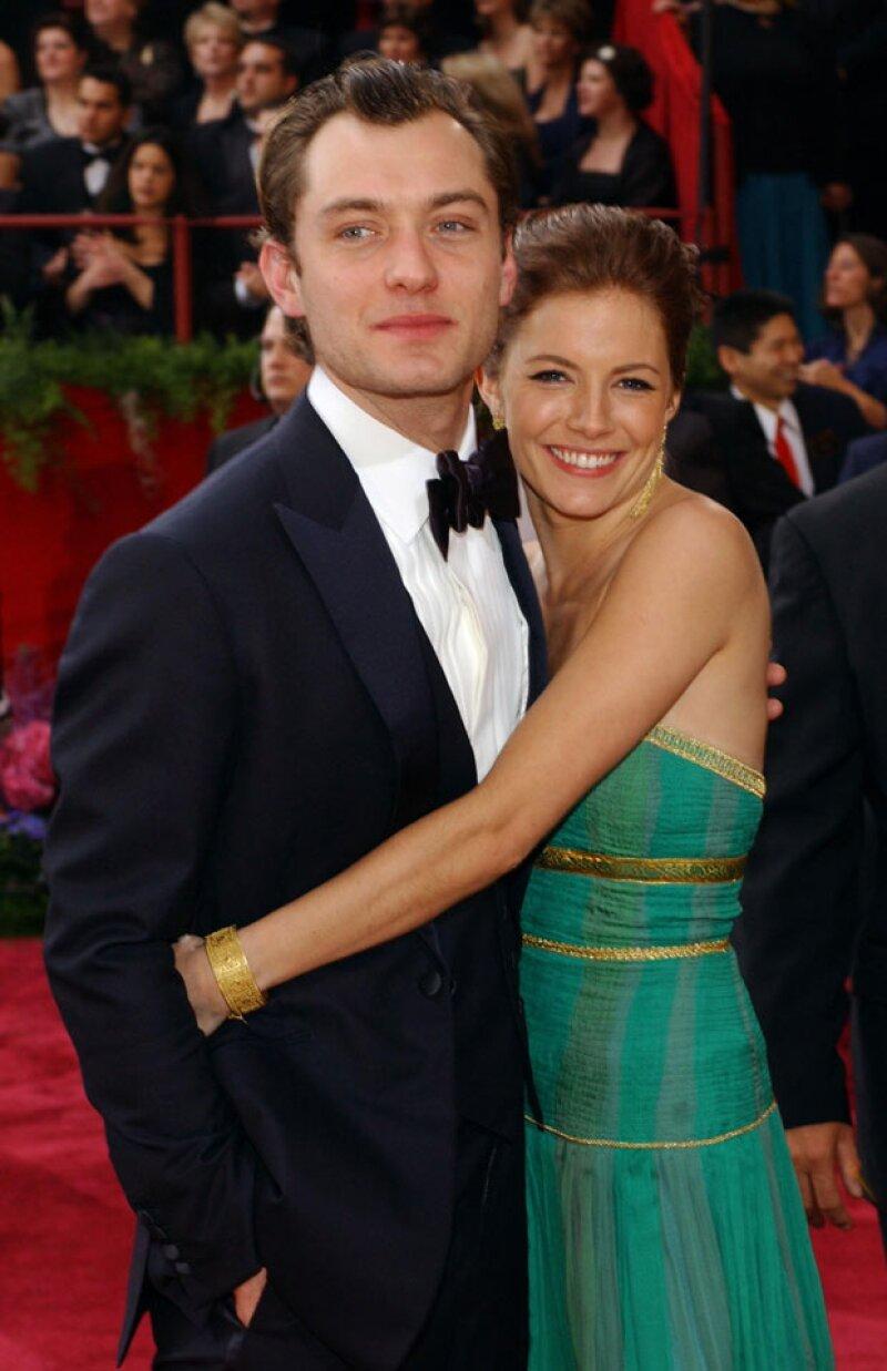 Jude Law terminó con su compromiso y desde entonces no se le ha conocido ninguna relación.