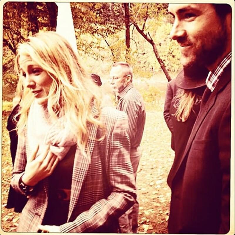 Aquí Blake y Ryan en la boda del fin de semana.