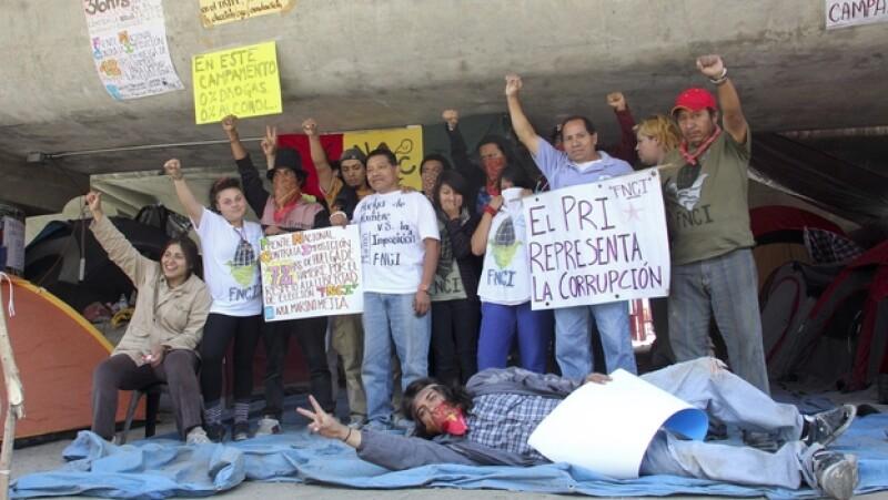 Protesta en el Tribunal Electoral