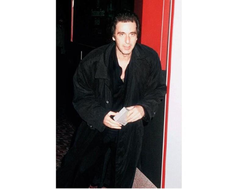 Al Pacino en 1990, cuando publicó su autobiografía con un revelador secreto sobre Madonna y él.