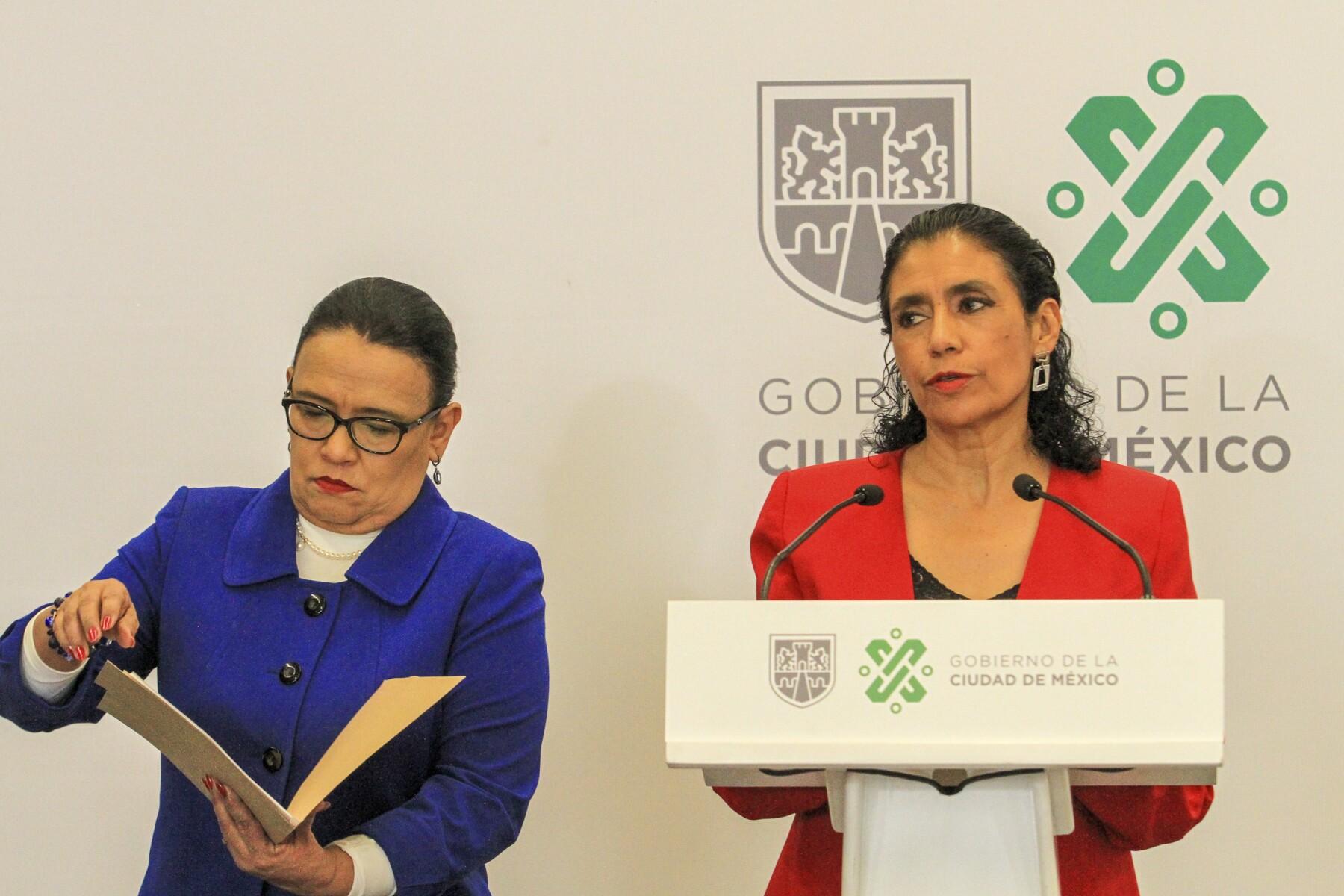Rosa Icela Rodríguez y Oliva Pérez Arellano