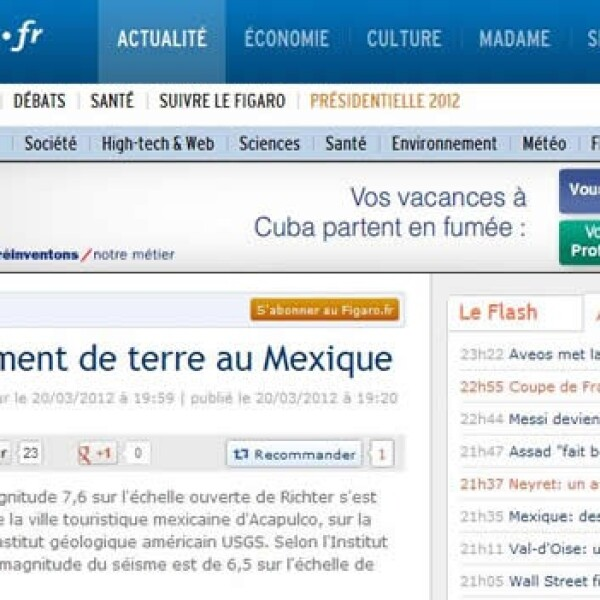 Portales temblor Le Figaro