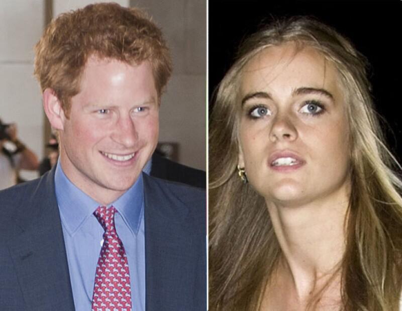 El hermano del príncipe Guillermo no intentó ocultar su cariño por la joven de 24 años durante un viaje que realizaron a Suiza.