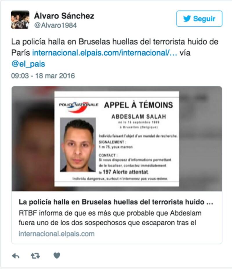 Desde los atentados en noviembre del año pasado, Salah Abdeslam ha sido buscado hasta ahora, que fue encontrado en Bruselas.