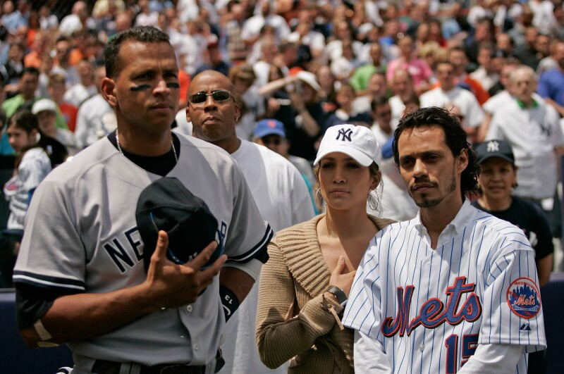 Jennifer Lopez, Marc Anthony, Alex Rodriguez