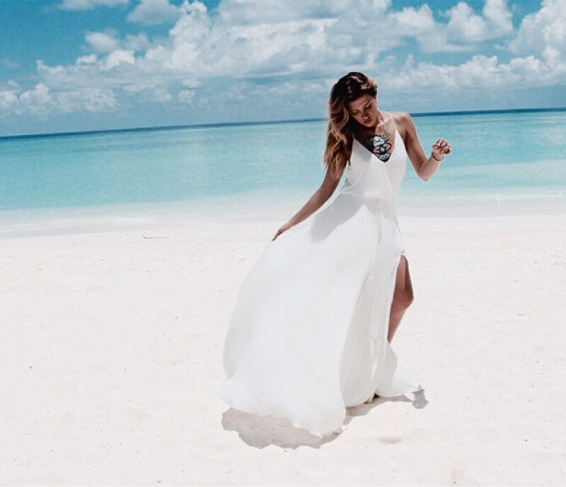 Michelle Salas lució su belleza en este paradisiaco destino turístico.