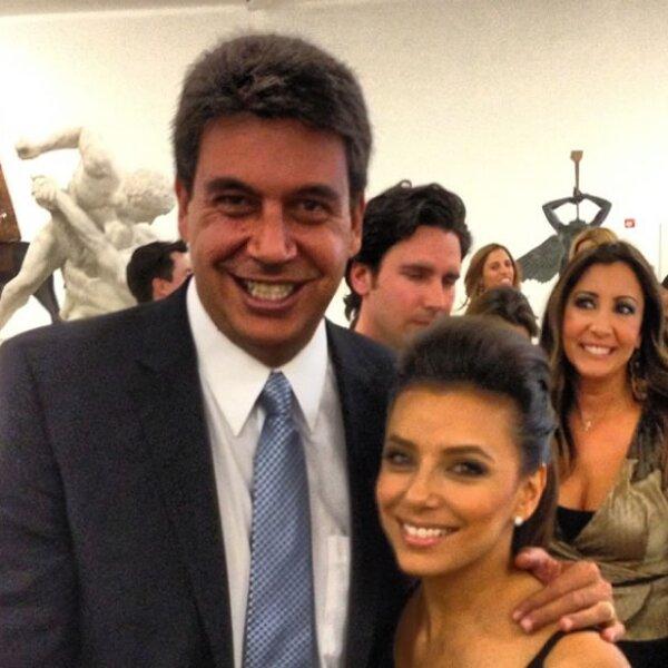Con la actriz y novia de Pepe Bastón, Eva Longoria.