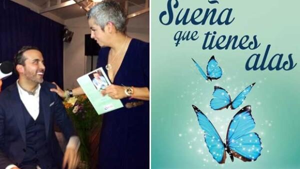 El ex Kabah presentó su cuarto libro titulado `Sueña que tienes alas´ en el que comparte sus experiencias de sanaciçon, ángeles y demás circunstancias que le cambiaron la vida.