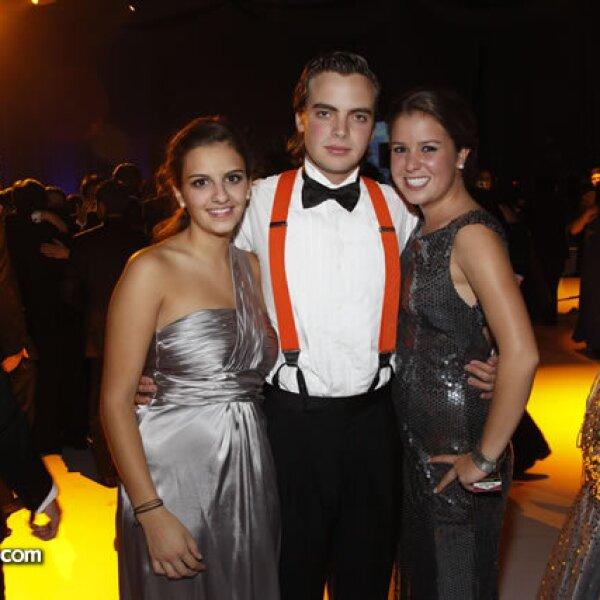 Daniela Trabolsi,Andrés Álvarez y Ximena Martínez
