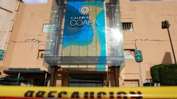 galerias centro comercial dañado