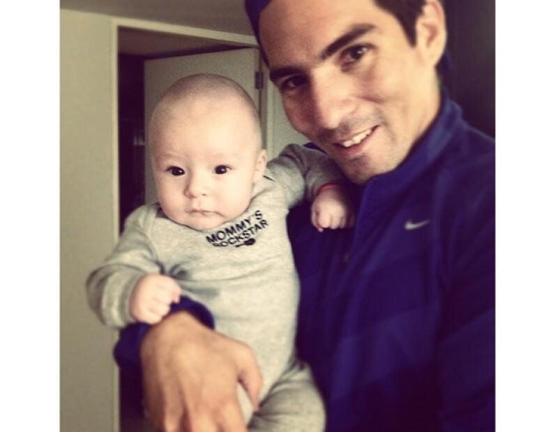 La conductora de televisión celebró los primeros cuatro meses de vida de su pequeño hijo Mateo.
