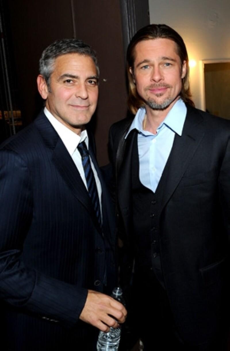 Brad Pitt y George Clooney son amigos desde hace muchos años.