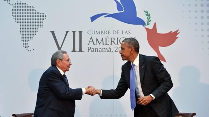 El presidente Castro y Obama se reunieron en Panamá