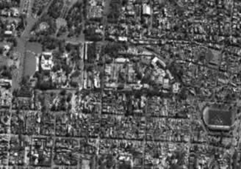 La ONU evalúa convertir el estado de fútbol -en la esquina inferior derecha de la foto-  ubicado en Puerto Príncipe en un gran hospital. (Foto: Reuters)