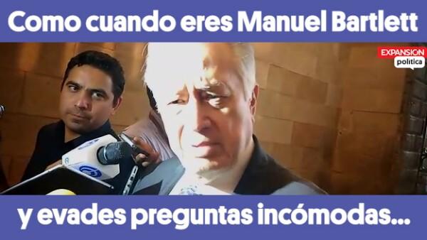 #ComoCuando eres Manuel Bartlett y evades preguntas incómodas...