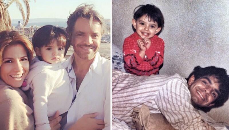 Ambas poseen los mismos rasgos que su padre, Eugenio Derbez.