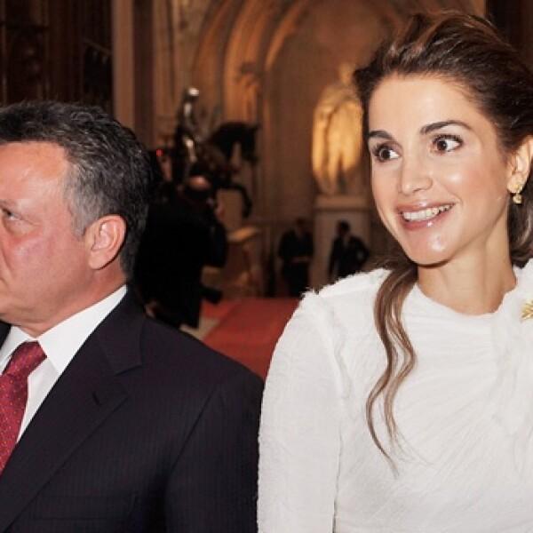 el rey Abdullah de Jordania, con su esposa, Rania