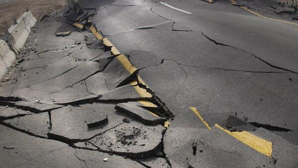 carretera dañado
